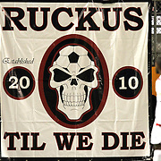 Orlando City Ruckus banner during a United Soccer League Pro soccer match between the Richmond Kickers and the Orlando City Lions at the Florida Citrus Bowl on May 25, 2011 in Orlando, Florida.  (AP Photo/Alex Menendez)