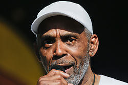 03 May 2015. New Orleans, Louisiana.<br /> The New Orleans Jazz and Heritage Festival. <br /> Frankie Beverly and Maze play Congo Square stage.<br /> Photo; Charlie Varley/varleypix.com