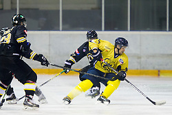 Nejc Kastelic #10 of HK ECE Celje during Inter National League ice hockey match between HK Playboy Slavija and HK ECE Celje, on September 30, 2015, in Ledena Dvorana Zalog, Ljubljana, Slovenia. Photo by Urban Urbanc / Sportida