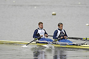 Caversham, Great Britain, Matt WELLS and Steve ROWBOTHAM,  at the Redgrave Pinsent Rowing Lake. GB Rowing Training centre. Wed. 20.04.2008  [Mandatory Credit. Peter Spurrier/Intersport Images] Rowing course: GB Rowing Training Complex, Redgrave Pinsent Lake, Caversham, Reading