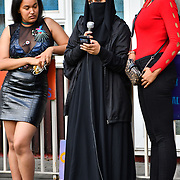 Tenants A and her family in the Marian Court. One an Asian lady born in UK bullyed by council was threaten demonic word at intentional homeless. If they don't take the offer sending her and family to Timbuktu. She is intentional homeless. She feel vulnerable and scared a place she don't have any family and friends supports her and the rising of fascism against women wearing burka and hijab. The council been useing the demonic strategy intentional homeless have killed thousands homeless die on the street with no responsible and is back by the UK democracy, human rights and freedom law. Photo taken on 1st August 2019, London, UK.