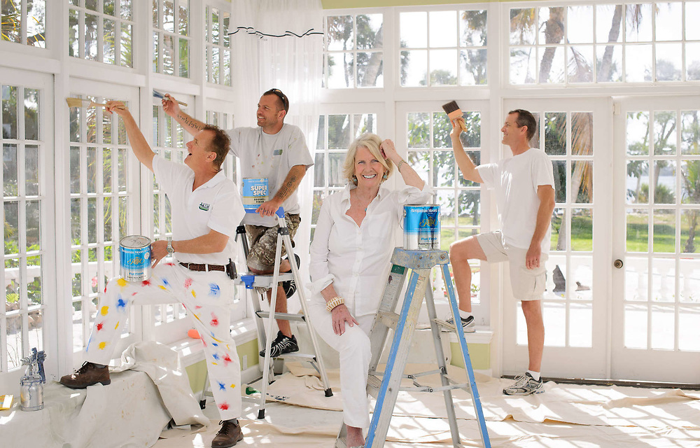 """""""Patty and the Painters"""" is the title of this portrait taken of Interior Designer Patty Downing."""