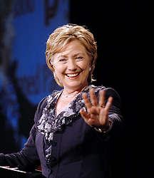 Sen. Hillary Clinton (D-NY.), a 2008 Democratic presidential candidate, campaigns in Washington DC ,17 July 2007 . Clinton speaks at The Planned Parenthood Action Fund Public Affairs Retreat . (Pictured:Hillary Clinton)<br /> Photo by Olivier Douliery/ABACAPRESS.COM