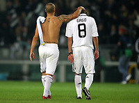 Fotball<br /> Foto: DPPI/Digitalsport<br /> NORWAY ONLY<br /> <br /> FOOTBALL - CHAMPIONS LEAGUE 2008/2009 - GROUP STAGE - GROUP H - 081021 - JUVENTUS TORINO v REAL MADRID - DESPAIR FERNANDO GAGO / FABIO CANNAVARO (REA) AT THE END OF THE MATCH