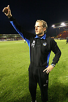 Photo: Pete Lorence.<br />Lincoln City v Bristol Rovers. Coca Cola League 2. Play off, Semi Final 2nd Leg. 17/05/2007.<br />Bristol manager, Paul Trollope salutes the teams fans after the match.