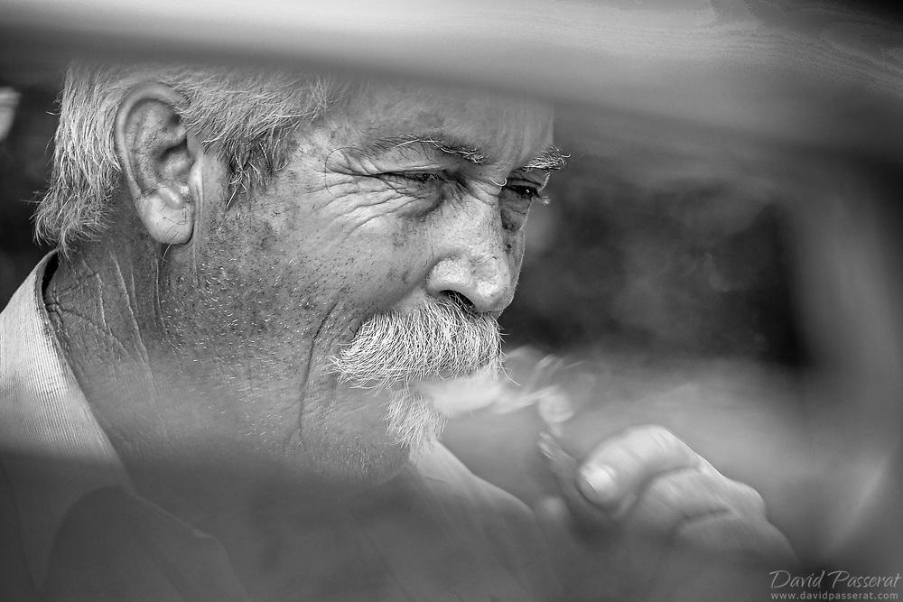 Man smoking a cuban cigar