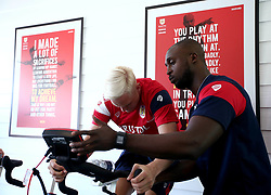Hordur Magnusson of Bristol City takes part in fitness tests on his first day of training - Mandatory by-line: Robbie Stephenson/JMP - 10/07/2017 - FOOTBALL - Failand Training Ground - Bristol, United Kingdom - Bristol City Preseason Training