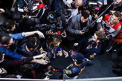 February 26, 2019 - Barcelona, Catalonia, Spain - Pierre Gasly from France with 10 Aston Martin Red Bull Racing - Honda RB15  portrait during the press conference during the Formula 1 2019 Pre-Season Tests at Circuit de Barcelona - Catalunya in Montmelo, Spain on February 26. (Credit Image: © Xavier Bonilla/NurPhoto via ZUMA Press)