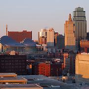 Downtown Kansas City Missouri Skyline.