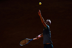 May 4, 2018 - Estoril, Portugal - Joao Sousa from Portugal serves to Kyle Edmund from Great Britain during their Millennium Estoril Open ATP Singles  tennis match, in Estoril, near Lisbon, on May 4, 2018. (Credit Image: © Carlos Palma/NurPhoto via ZUMA Press)