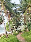 Footpath along the coastline in Tangalle, Sri Lanka
