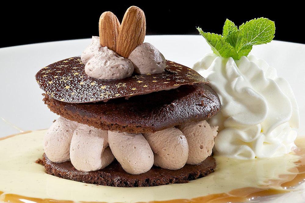 Hazelnut Marquis is a hazelnut-flavored mousse dessert.