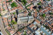 Nederland, Overijssel, Deventer, 17-07-2017; overzicht binnenstad Deventer met o.a. Lebuinuskerk.<br /> Overview downtown Deventer, Deventer city centre.<br /> <br /> luchtfoto (toeslag op standard tarieven);<br /> aerial photo (additional fee required);<br /> copyright foto/photo Siebe Swart
