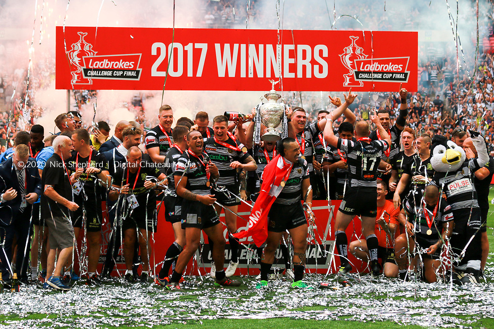 Rugby League - Hull FC v Wigan Warriors - Ladbrokes Challenge Cup 2017 - Wembley National Stadium - August 06 - EDITORIAL USE ONLY