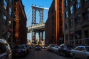 The Manhattan Bridge, DUMBO, Brooklyn, NY.