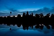 Angkor Wat before dawn.
