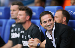 Derby County manager Frank Lampard before the Sky Bet Championship match at the Madejski Stadium, Reading.