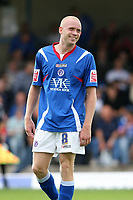 Photo: Pete Lorence.<br />Chesterfield Town v Wycombe Wanderers. Coca Cola League 2. 01/09/2007.<br />Derek Niven celebrates taking Chesterfield into the lead during the first half.