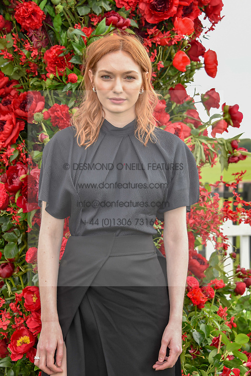 Eleanor Tomlinson at the Cartier Queen's Cup Polo 2019 held at Guards Polo Club, Windsor, Berkshire. UK 16 June 2019 - <br /> <br /> Photo by Dominic O'Neill/Desmond O'Neill Features Ltd.  +44(0)7092 235465  www.donfeatures.com