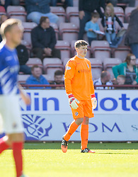 Cowdenbeath's keeper Jamie Sneddon. <br /> Dunfermline 5 v 1 Cowdenbeath, Scottish League Cup game played today at East End Park.