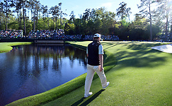 Branden Grace walks up the 15th green following an eagle during the second round of the Masters Tournament at Augusta National Golf Club in Augusta, Ga., on Friday, April 7, 2017. (Photo by Brant Sanderlin/Atlanta Journal-Constitution/TNS)  *** Please Use Credit from Credit Field ***