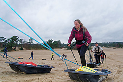 Kim an Cathelijne in training for the Camino 2020 at the Soesterduinen on March 08, 2020 in Soest, Netherlands