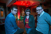 NO FEE PICTURES <br /> 30/12/14 Nial Conlan, Delorentos, Dorothy Cotter, 11T4, and Shane Lanigan, The Walshes, at the NYF Spoken Word Festival at the Odessa Club in Dublin. Picture:Arthur Carron