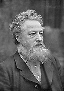 William Morris (1834-1896) English socialist, craftsman and poet. Arts and Crafts Movement.