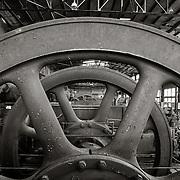 Flywheel in Gas Blowing Engine Room, Bethlehem Steel Mill, Bethlehem, PA