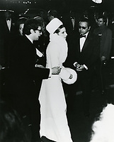 1969 Barbara Streisand at the movie premiere of Hello Dolly at the Grauman's Chinese Theater