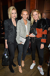 Left to right, OLIVIA BENTLEY, TIFFANY WATSON and FRANKIE GAFF at a party to celebrate the launch of fashion retailer WeKoko.com held at Sketch, 9 Conduit Street, London on 13th April 2016.