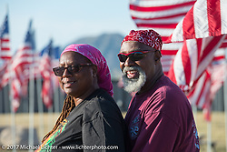Veterans Kenneth and Beverly Hodges of McDonough, GA at the Buffalo Chip Field of Flags tribute to those who have served and sacrificed during the annual Sturgis Black Hills Motorcycle Rally.  SD, USA.  August 10, 2017.  Photography ©2017 Michael Lichter.