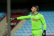 Bolton Wanderers goalkeeper Matthew Gilks (13) pointing, directing, signalling, gesture during the EFL Sky Bet League 2 match between Scunthorpe United and Bolton Wanderers at the Sands Venue Stadium, Scunthorpe, England on 24 November 2020.