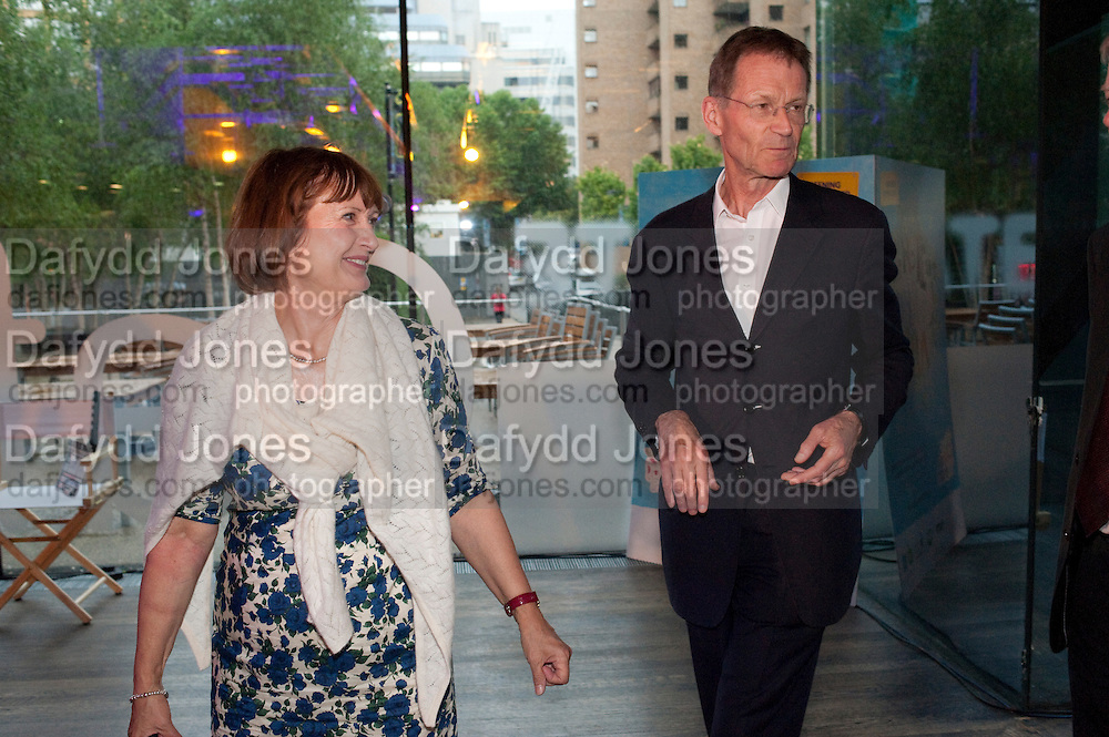 TESSA JOWELL; SIR NICHOLAS SEROTA, The Tate Movie Project Launch, Tate Modern. London. 5 July 2011. <br /> <br />  , -DO NOT ARCHIVE-© Copyright Photograph by Dafydd Jones. 248 Clapham Rd. London SW9 0PZ. Tel 0207 820 0771. www.dafjones.com.