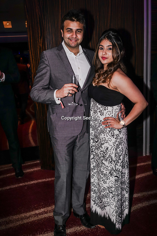 Westminster, UK. 20th Apr, 2017. Varun & Sujas Parikh - Sponsors of Green Tomato Cars attends The annually National UK Blog Awards at Park Plaza Westminster Bridge, London. by See Li