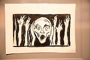 'The Scream' undated drawing by Edvard Munch 1863-1944, Kode 3 art gallery Bergen, Norway