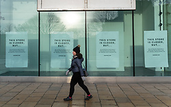 Edinburgh, Scotland, UK. 28 December 2020. Scenes from Edinburgh City Centre as Scotland starts first weekday under the most severe level 4 lockdown with all non-essential businesses closed. Pic; New Look store closed on Princes Street. Iain Masterton/Alamy Live News