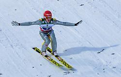 21.01.2018, Heini Klopfer Skiflugschanze, Oberstdorf, GER, FIS Skiflug Weltmeisterschaft, Teambewerb, im Bild Richard Freitag (GER) // Richard Freitag of Germany during Team competition of the FIS Ski Flying World Championships at the Heini-Klopfer Skiflying Hill in Oberstdorf, Germany on 2018/01/21. EXPA Pictures © 2018, PhotoCredit: EXPA/ JFK