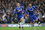 GOAL/CELE  : Eden Hazard of Chelsea (10) celebrates after scoring his sides 3rd goal. Premier league match, Chelsea v Manchester Utd at Stamford Bridge in London on Sunday 23rd October 2016.<br /> pic by John Patrick Fletcher, Andrew Orchard sports photography.