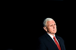 Donald Trump's running mate, Indiana Gov. Mike Pence, promised to renegotiate the North American Free Trade Agreement and other trade deals that Trump says hurt American workers during a campaign rally on Monday, Oct. 10, 2016 in Charlotte, NC, USA. Photo by John D. Simmons/Charlotte Observer/TNS/ABACAPRESS.COM