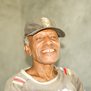Portrait of a happy old papuan man.