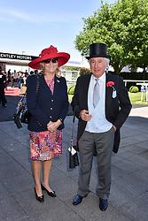 Sir Martyn & Lady Arbib at The Investec Derby, Epsom, Surrey England. 3 June 2017.<br /> Photo by Dominic O'Neill/SilverHub 0203 174 1069 sales@silverhubmedia.com