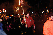 Tuesday 29th January 2013: Guizers with torches march through Lerwick during the Up Helly Aa 2013 festival in Lerwick, Shetland..Copyright 2013 Peter Horrell