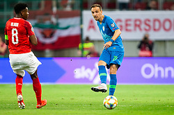 Denis Popovic of Slovenia during the 2020 UEFA European Championships group G qualifying match between Austria and Slovenia at Wörthersee Stadion on June 7, 2019 in Klagenfurt, Austria. Photo by Vid Ponikvar / Sportida