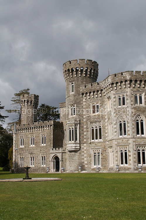 Victorian revival Johnstown Castle in Wexford Ireland