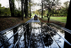 October 29, 2016 - Rockville, Maryland, United States of America - The Presidential motorcade returns to the White House after United States President Barack Obama spent the day golfing at the Woodmont Country Club in Rockville, Maryland, October 29, 20016. .Credit: Aude Guerrucci / Pool via CNP (Credit Image: © Aude Guerrucci/CNP via ZUMA Wire)