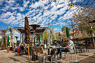 Breakfast on the patio at Hotel Congress in downtown Tucson, Arizona, USA