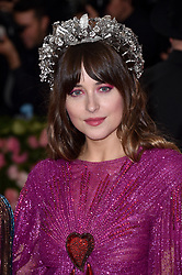 Dakota Johnson attends The 2019 Met Gala Celebrating Camp: Notes On Fashion at The Metropolitan Museum of Art on May 06, 2019 in New York City. Photo by Lionel Hahn/ABACAPRESS.COM