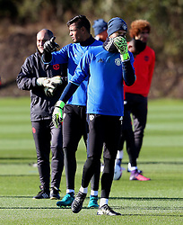 David De Gea and Sergio Romero of Manchester United  - Mandatory by-line: Matt McNulty/JMP - 19/10/2016 - FOOTBALL - Manchester United - Training session ahead of Europa League game against Fenerbahce
