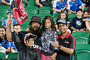 Crusaders fans are seen during the Canterbury Crusaders v the Western Force Super Rugby Match. Nib Stadium, Perth, Western Australia, 8th April 2016. Copyright Image: Daniel Carson / www.photosport.nz